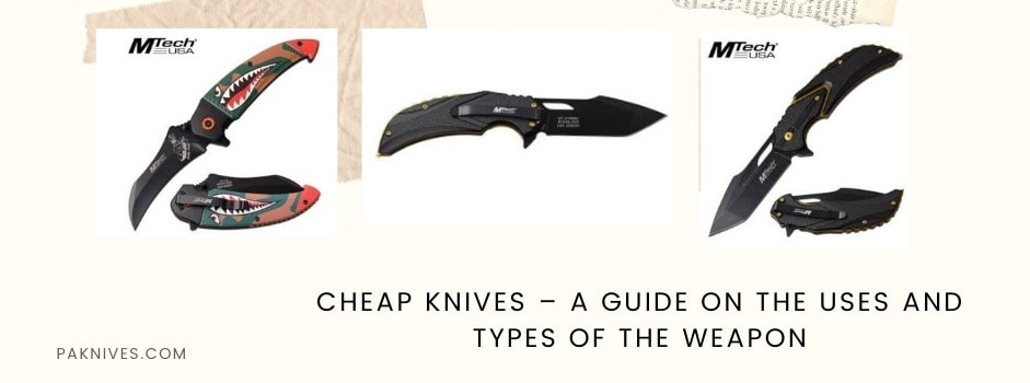 Cheap Knives – A Guide on the Uses and Types of the Weapon