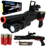 Airsoft M180A2 Pump Action Shot Gun w/ Scope and Light