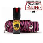 Personal Defense Pepper Spray OC-18 1.2oz - Leather Case KeyRing