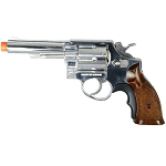 HFC 357 Magnum Airsoft Pistol Metal Barrel Gas Revolver Wood / Chrome