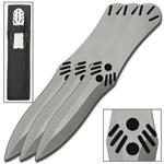 Assassins Creed Silver 3 Piece Throwing Knife Set
