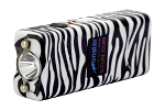 8 Millions Volt Rechargeable Ultra Mini Stun Gun With LED Light Zebra Print