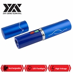 DZS Blue Rechargeable Lipstick 2.5 Million Volt Discrete Stun Gun With LED Light