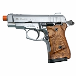 Zoraki M2914 Silver With Wood Grips 9mm Front Firing Blank Gun