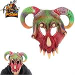 Fantasy Mythical Wild Creature Horn Mask For Cosplay Halloween Masquerade