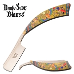 Dark Side Blades Straight Razor Knife Egyptian Pharaoh Handle