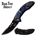 Blue Dragon Fantasy Spring Assisted Folding Pocket Knife