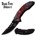 Red Dragon Fantasy Spring Assisted Folding Pocket Knife