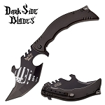 Dark Side Blades Spring Assisted Knife Gray Punisher