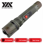 DZS Powerful 10 Million Volt LED Flashlight Stun Gun Rechargeable Camo