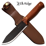 10 Inch Fixed Blade Hunting Knife with Cherry Wood Handle
