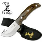 Elk Ridge Gut Hook Skinner Hunting Knife with Pakkawood Handle