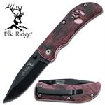 3 Inch Elk Ridge Pink Camo Handle Pocket Folder Knife