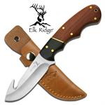 7 Inch Elk Ridge Gut Hook Hunting Knife With Sheath