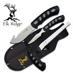 3 Piece Elk Ridge Hunting Knife Set with Sheath