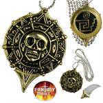 Pirate Coin Necklace with Hidden Knife