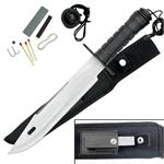 15 Inch Survival Knife with Satin Finish Blade