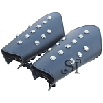 Pair Of Genuine Leather Arm Bracers with Studs