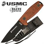 Guardian 5MM Thick Blade US Marines Fixed Blade Knife - Tan Canvas Micarta
