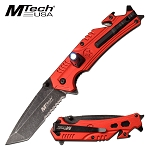 Tactical Pocket Knife Mtech Spring Assisted Knife Red