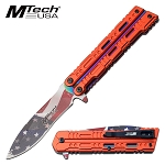 Mtech USA Flag Blade Assisted Opening Pocket Knife Red Handle