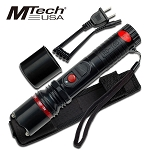 Mtech 5 Million Volt Rechargeable Stun Gun with LED Flashlight