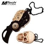 Mtech Folding Knife Skull Neck Knife