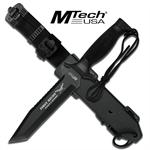 12 Inch Mtech First Recon Survival Knife with Tanto Blade & Black Handle