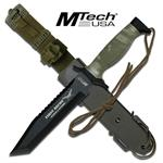 12 Inch Mtech First Recon Survival Knife with Tanto Blade - Camo Handle
