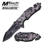 Mtech Ballistic 5 Inch Spring Assisted Folding Knife - Digital Camo
