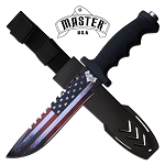 American Flag Design Fixed Blade Knife 12.5 Inch Survival Knife