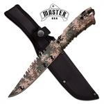 Master USA 10.5 Inch Fixed Blade Hunting Knife Digital Camo