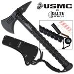 United States Marines 14.5 Inch Tactical Axe Hatchet with Sheath