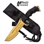 Gold MTech Xtreme 5mm Thick Blade Hunting Tactical Military Knife