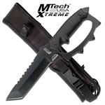 Mtech Xtreme Full Tang Knuckle Handle Tactical Combat Knife With Sheath