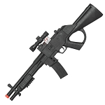 P2338A Spring Powered Airsoft Assault Rifle with Red Dot Laser Mock Scope
