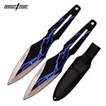 Perfect Point 9 Inch Length 2 Piece Throwing Knife Set Thunder Design
