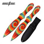 Perfect Point 2 Piece Set 8 Inch Throwing Knives Full Color