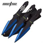 Perfect Point 3 Piece Throwing Knife Set - Blue