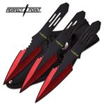 Perfect Point 3 Piece Throwing Knife Set - Red