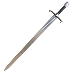 Fantasy White Wolf Sword With Wall Display Plaque