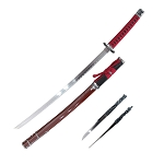 Samurai Sword with Carbon Steel Blade Red  Katana