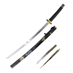 Samurai Sword 37 Inch Katana with Black Scabbard