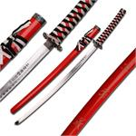 Dragon Samurai Katana Sword - Black and White