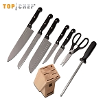 Top Chef Classic 9 Piece Block Kitchen Knife Set