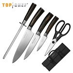 Top Chef Dynasty 6 Piece Carrying Case Kitchen Knife Set