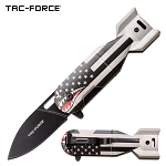 US Flag Pocket Knife American Shark Bomber Spring Assisted Knife