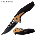 Folding Pocket Knife with Persian Edge Blade Black Copper Handle
