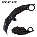 Jaguar Claw Karambit Style Spring Assisted Folding Pocket Knife Black