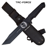 The Punisher Tactical Knife 11.5 Inch Fixed Blade Knife Black Blade